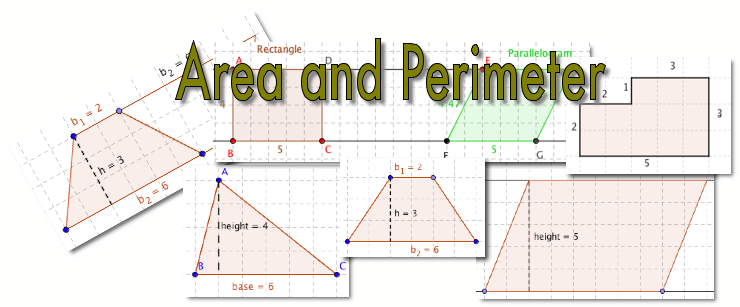 area and perimeter of shapes math video tutorials interactive applets